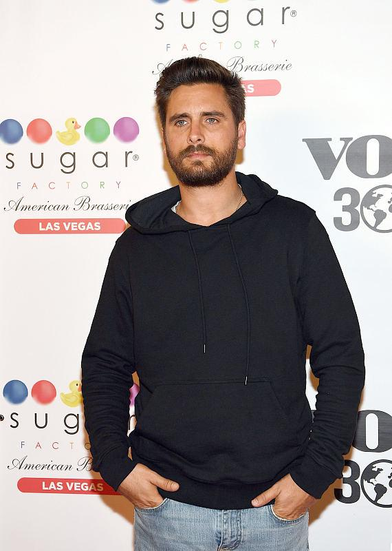 Scott Disick arrives at the new Sugar Factory at Fashion Show