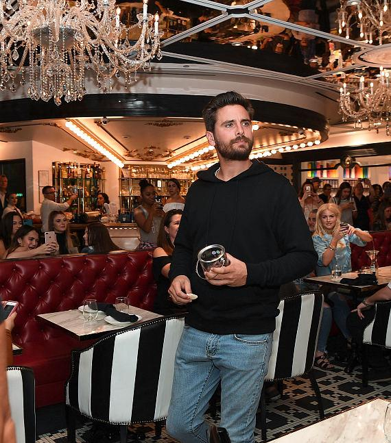 Scott Disick inside the restaurant at the new Sugar Factory at Fashion Show