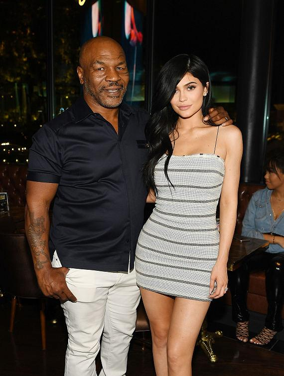 Mike Tyson and Kylie Jenner at Grand Opening Celebration of Sugar Factory American Brasserie at Fashion Show