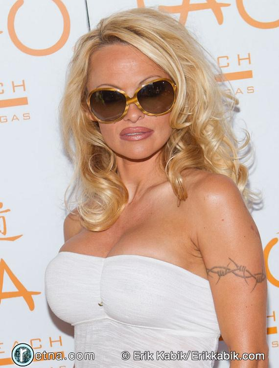 Pam Anderson at TAO Beach at The Venetian