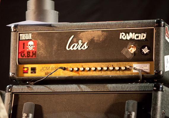 Guitarist Lars Frederiksens' customized Marshall Amplifier