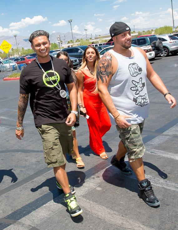 DJ Pauly arrives at Walmart in Las Vegas