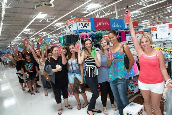 Fans wait in line to meet DJ Pauly at Walmart in Las Vegas