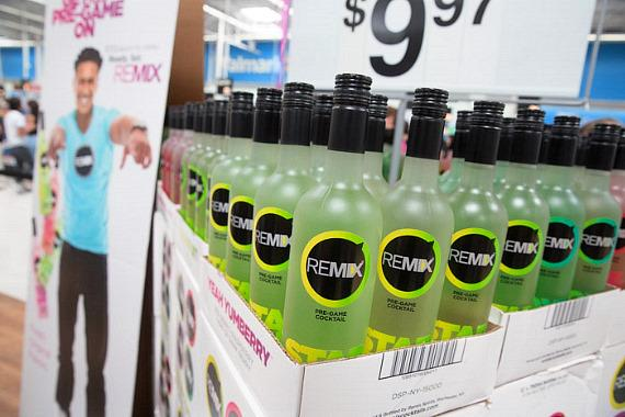 Bottles of REMIX at Walmart in Las Vegas