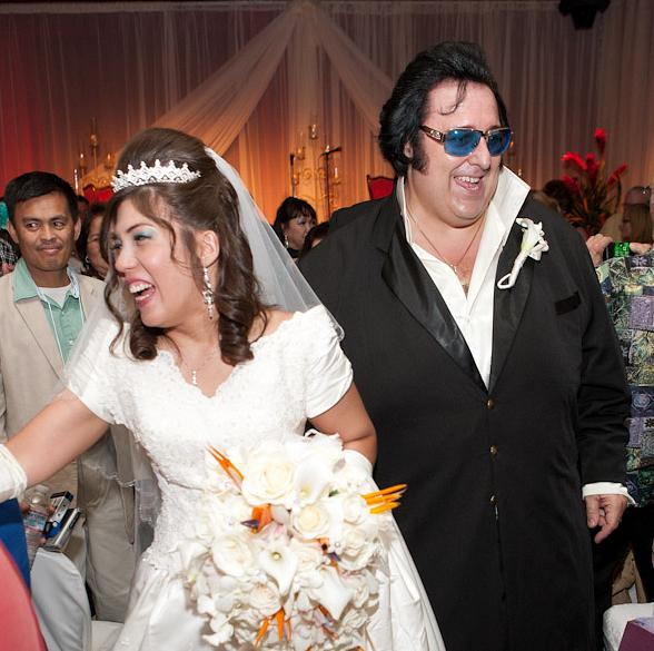 "Amanda Lasham and Pete ""Big Elvis"" Vallee"