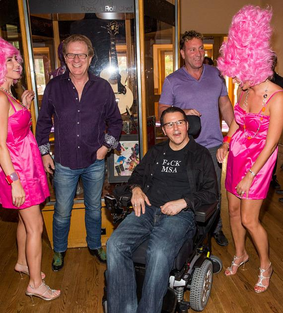 Kerry Simon and guests after Memorabilia case unveiling