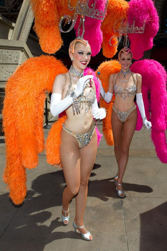 "Vegas showgirls from Jubilee with Sugar Factory's ""Vegas"" Couture Pop"