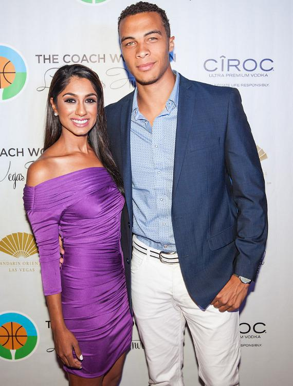 Golfer Seema Sadekar with former NFL player Dale Moss