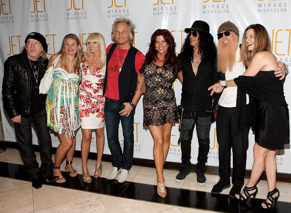 Brad Whitford of Aerosmith, Matt Sorum from GnR, Slash, Billy Gibbons of ZZ top, and their wives