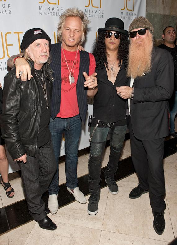 Brad Whitford of Aerosmith, Matt Sorum from GnR, Slash and Billy Gibbons of ZZ top