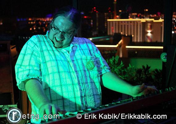 Moksha performs on the rooftop of Binion's Gambling Hall