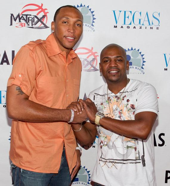 Shawn Marion and Mekhi Phifer