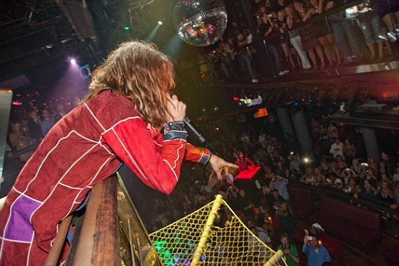 Steven Tyler hosts at Studio 54