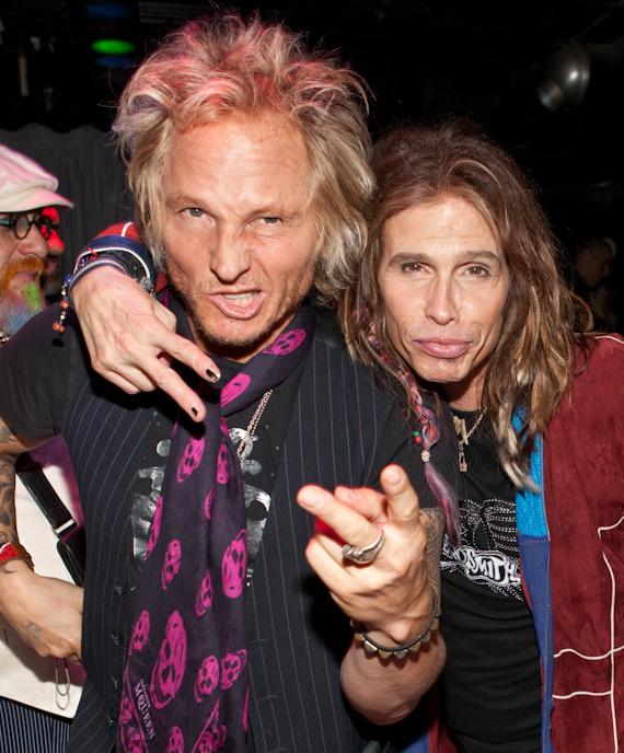 Guns N' Roses and Velvet Revolver drummer Matt Sorum and Steven Tyler