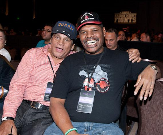 Roberto Duran and Leon Spinks at The Cosmopolitan of Las Vegas