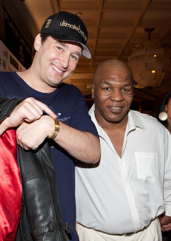 Phil Hellmuth and Mike Tyson