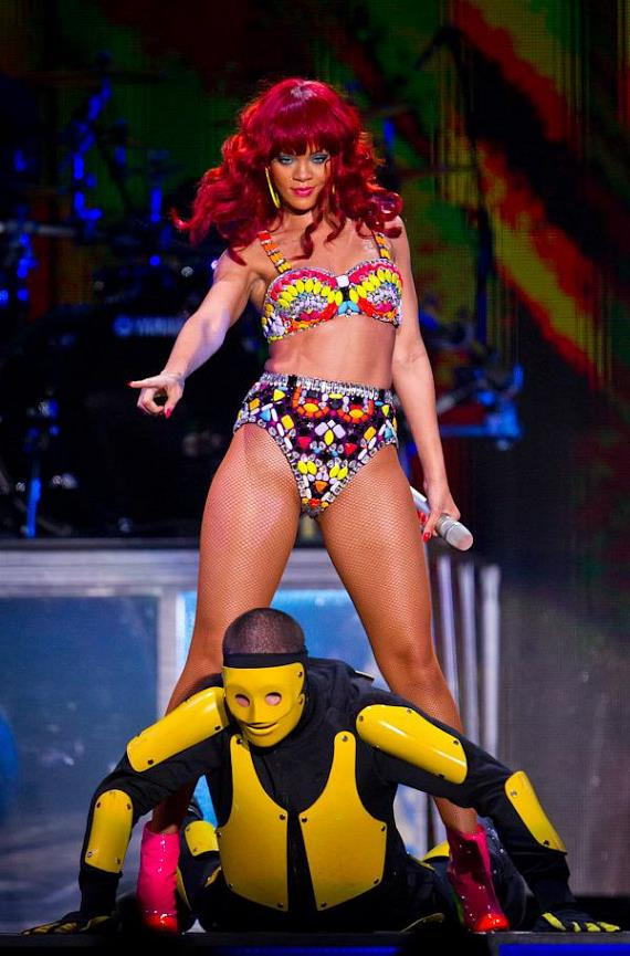 Rihanna performs at Mandalay Bay Events Center