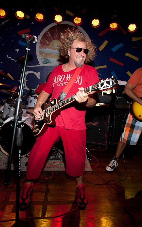sammy hagar performs at cabo wabo cantina in las vegas. Black Bedroom Furniture Sets. Home Design Ideas