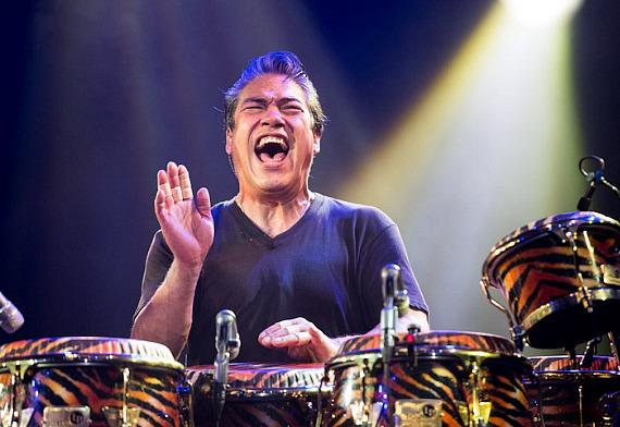 Carlos Santana's drummer performs in Columbia, Maryland