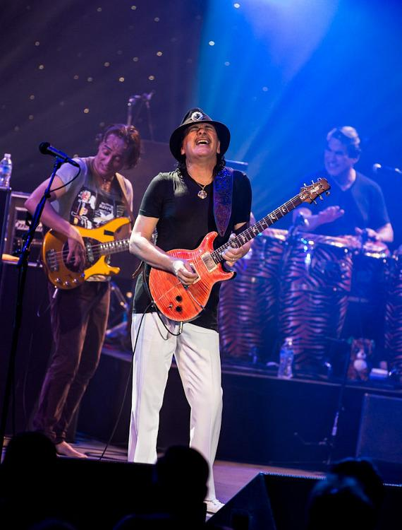 Carlos Santana and band perform in Columbia, Maryland