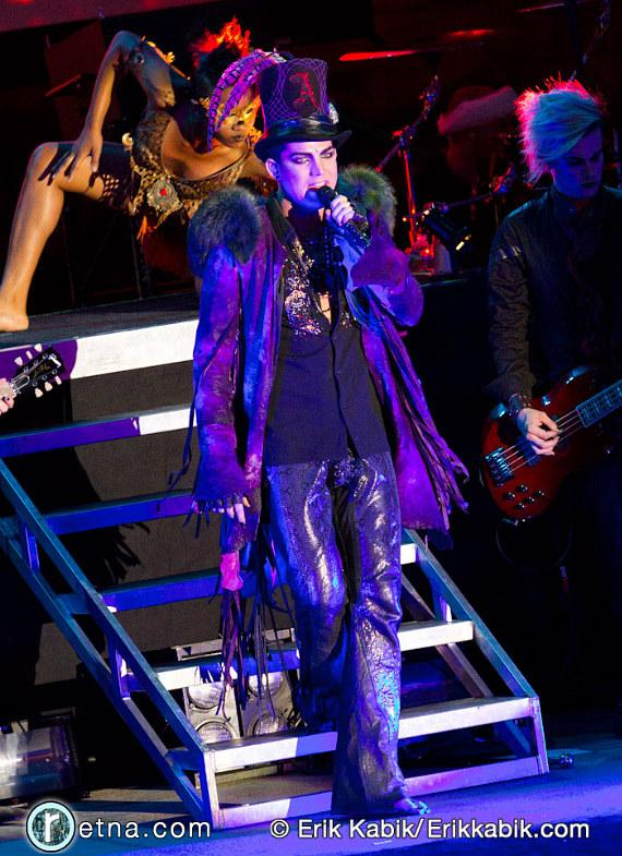 Adam Lambert performs at Mandalay Beach