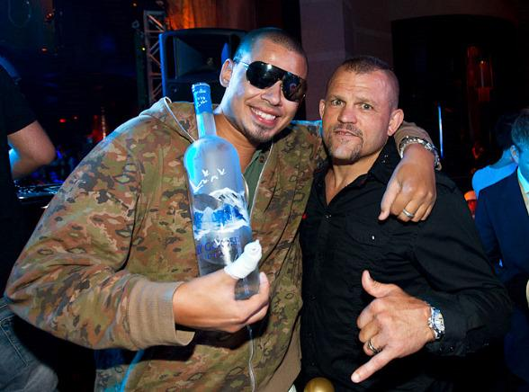 Afrojack and Chuck Liddell