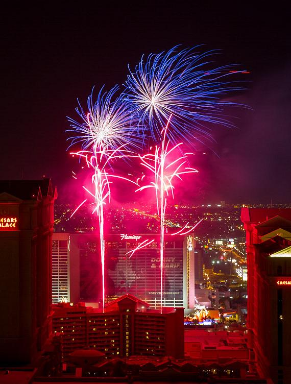 4th of July Fireworks at Caesars Place in Las Vegas