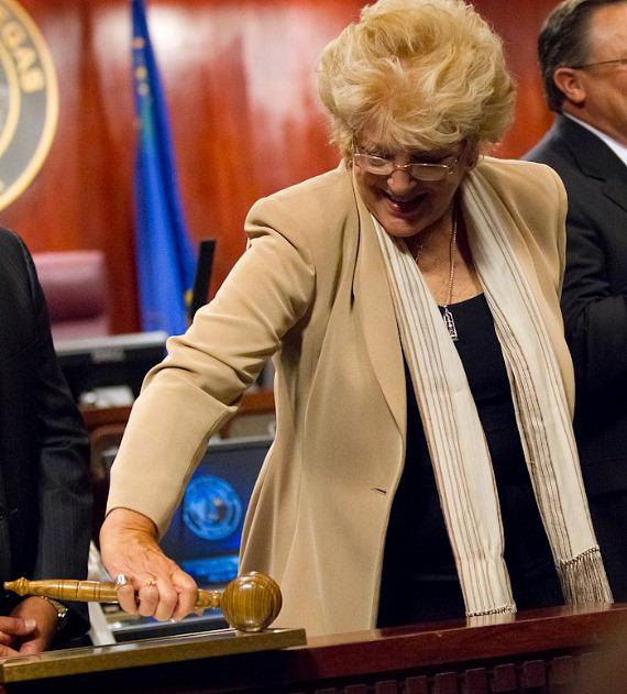 Mayor Carolyn G. Goodman with the official gavel