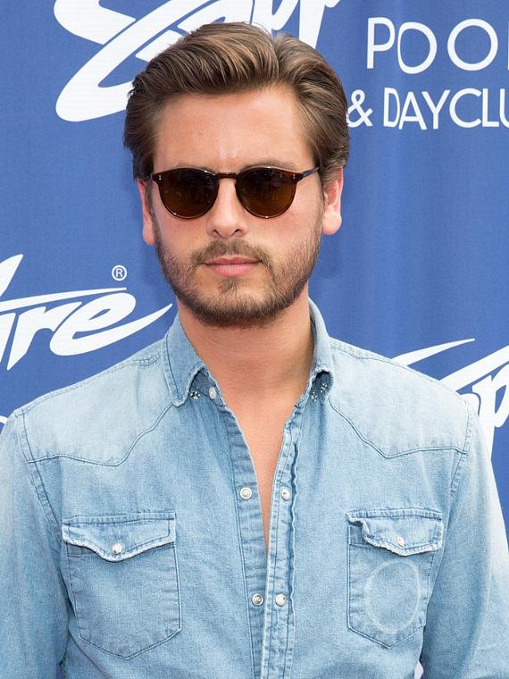 Scott Disick on red carpet at Sapphire Pool & Dayclub in Las Vegas