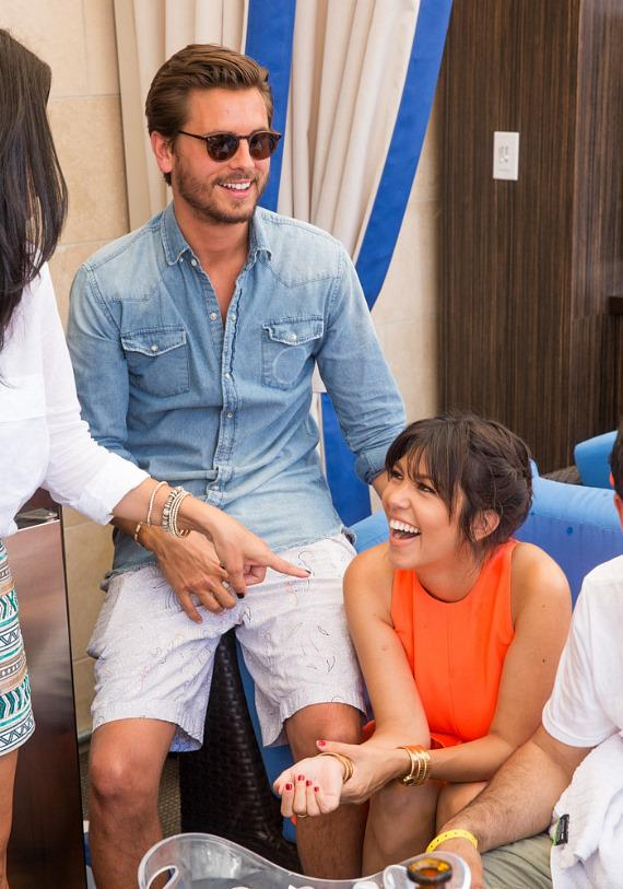 Scott Disick and Kourtney Kardashian at Sapphire Pool & Dayclub