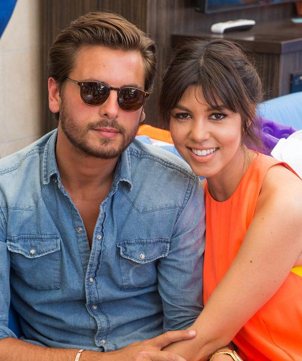 Scott Disick Gets Surprise Visit by Girlfriend Kourtney Kardashian at Sapphire Pool & Dayclub in Las Vegas
