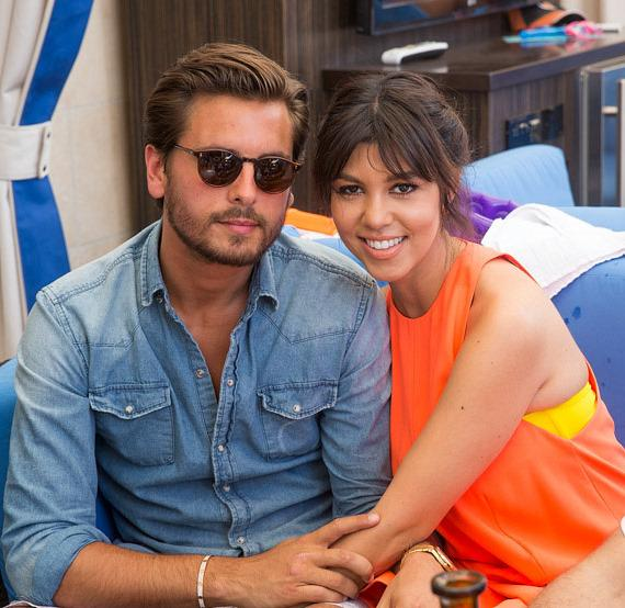 Scott Disick and Kourtney Kardashian at Sapphire Pool & Dayclub in Las Vegas
