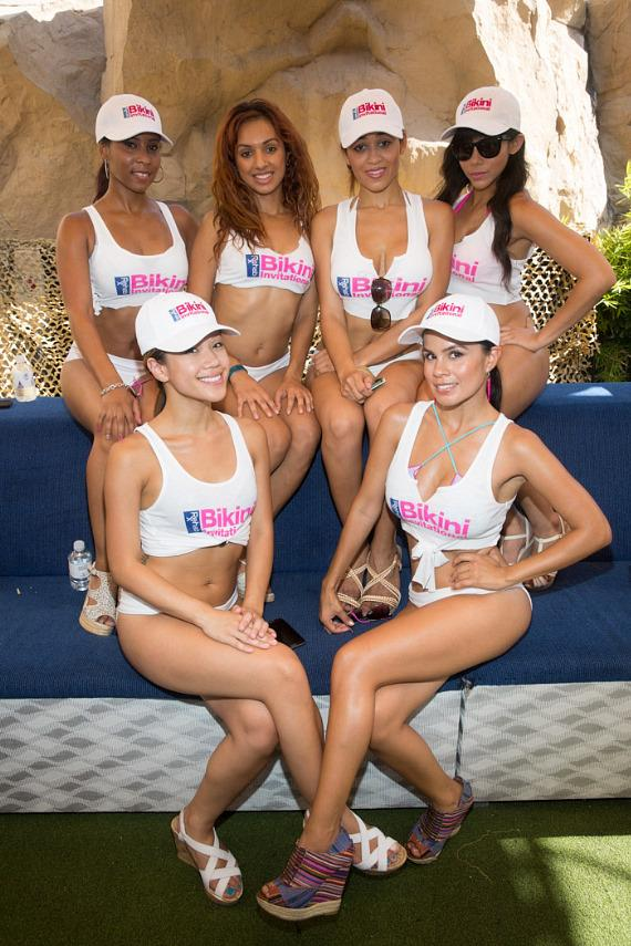 Bikini contestants at REHAB in Las Vegas
