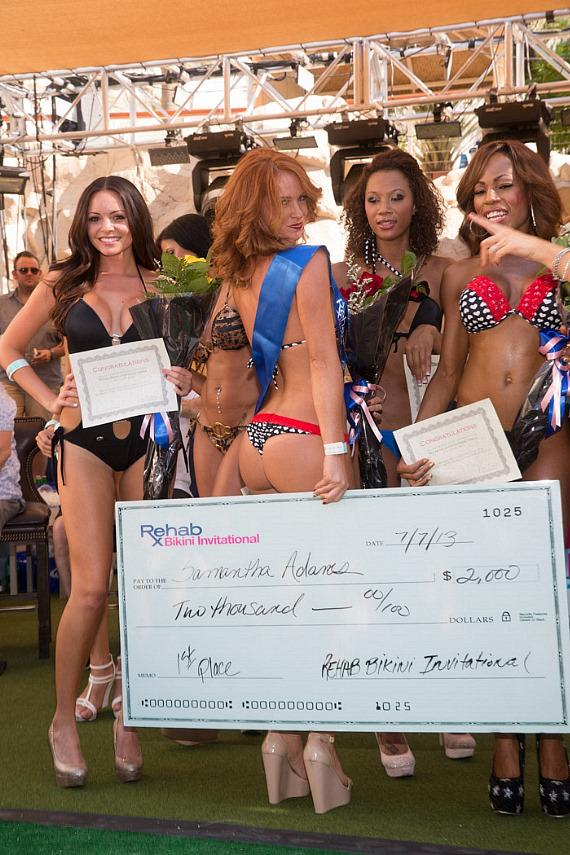 Bikini contest winner at REHAB in Las Vegas