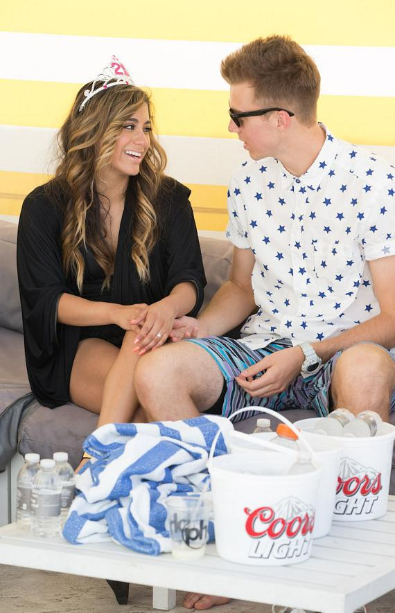 Ally Brooke Hernandez celebrates 21st Birthday at Planet Hollywood Resort Pool in Las Vegas