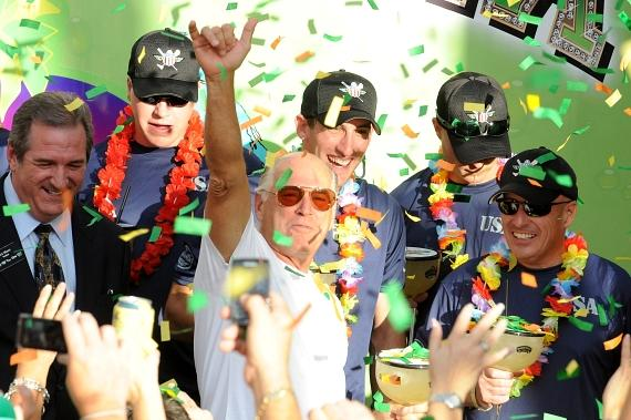 Jimmy Buffett and Wounded Warrior Amputee Softball Team at Margaritaville Las Vegas