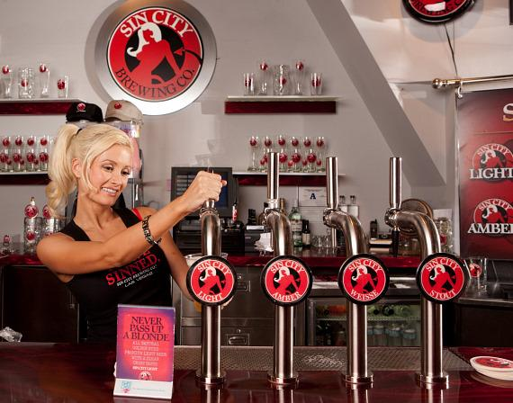 Holly Madison in Sin City Brewing at Miracle Mile Shops