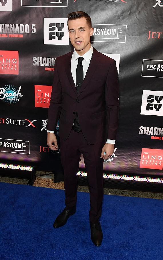 Actor Cody Linley attends the premiere of 'Sharknado 5: Global Swarming' at The LINQ Hotel & Casino on August 6, 2017 in Las Vegas, Nevada