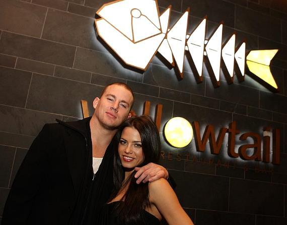 Channing Tatum and Jenna Dewan at Yellowtail Sushi Restaurant & Bar at Bellagio (Photo courtesy of Isaac Brekken/Wireimage)