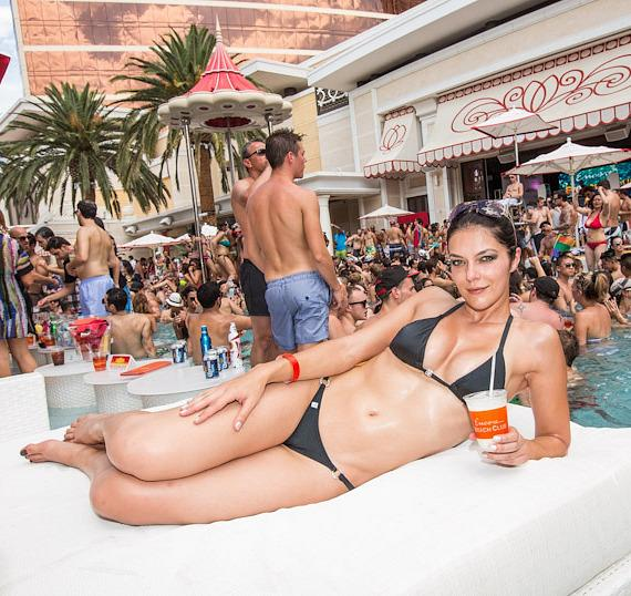 Adrianne Curry at Encore Beach Club