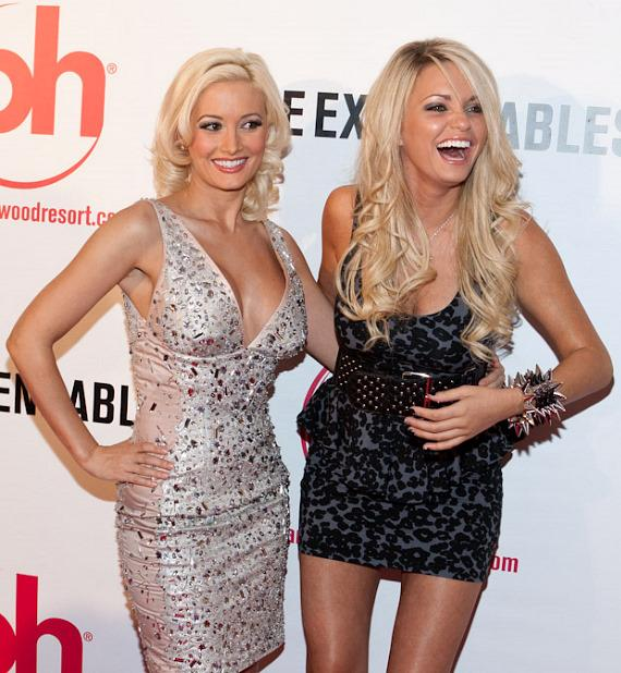 Holly Madison with assistant Angel Porrino