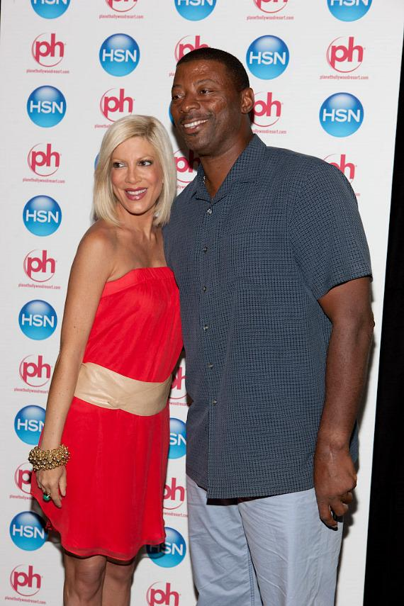 Tori Spelling and Carl Banks at HSN Live in Vegas at Planet Hollywood