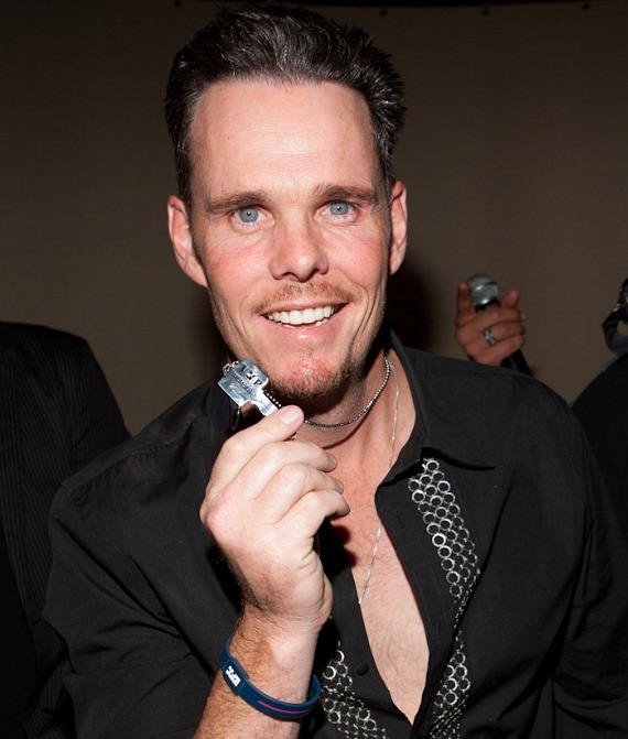 Kevin Dillon with VIP Playboy Club Key
