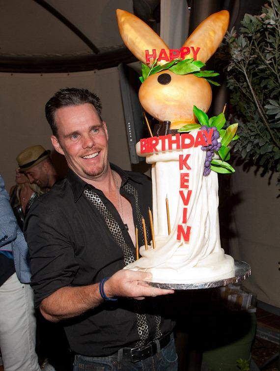 Kevin Dillon with birthday cake