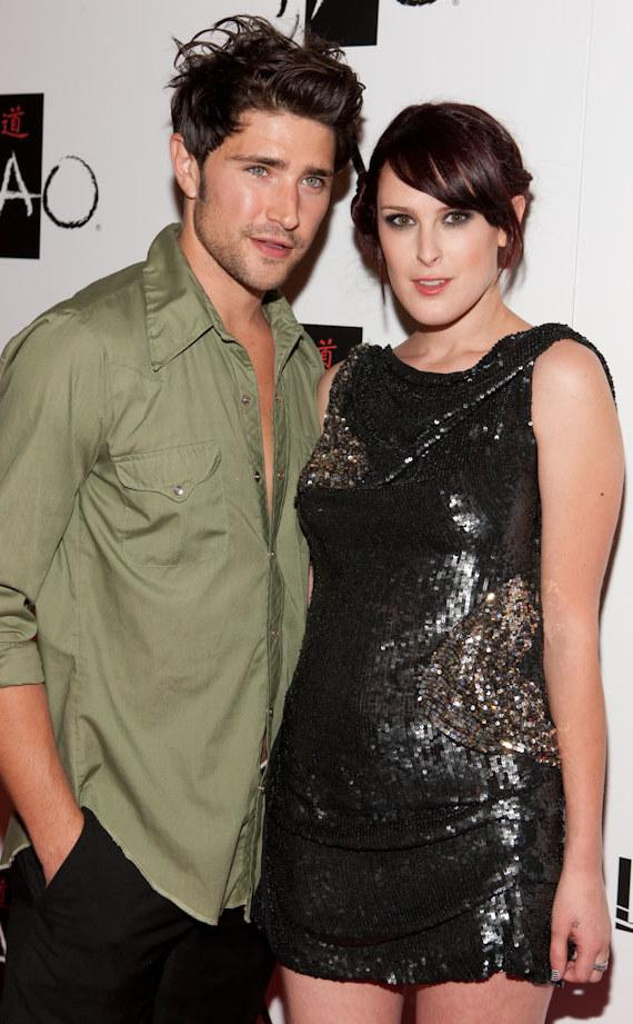 Matt Dallas and Rumer Willis