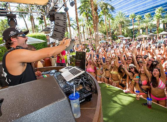 Brody Jenner DJs at REHAB at Hard Rock Hotel & Casino