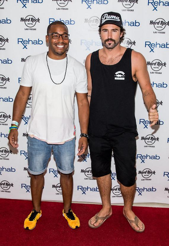 William Lifestyle and Brody Jenner arrive at REHAB at Hard Rock Hotel & Casino