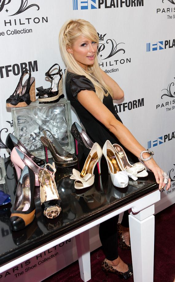 Paris Hilton unveils Spring 2011 Shoe Collection at MAGIC Marketplace in Las Vegas