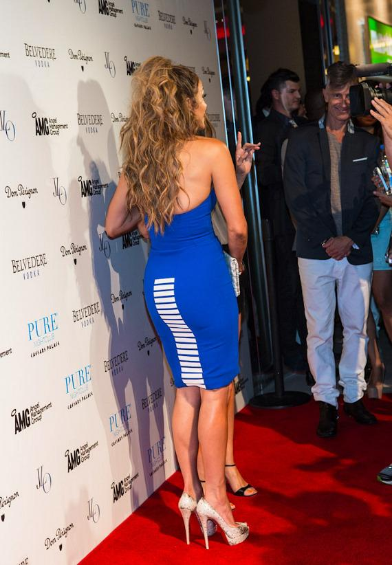 Jennifer Lopez leaving Red Carpet at PURE Nightclub