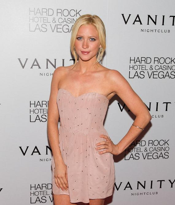 Brittany Snow at Vanity Nightclub at Hard Rock Hotel & Casino